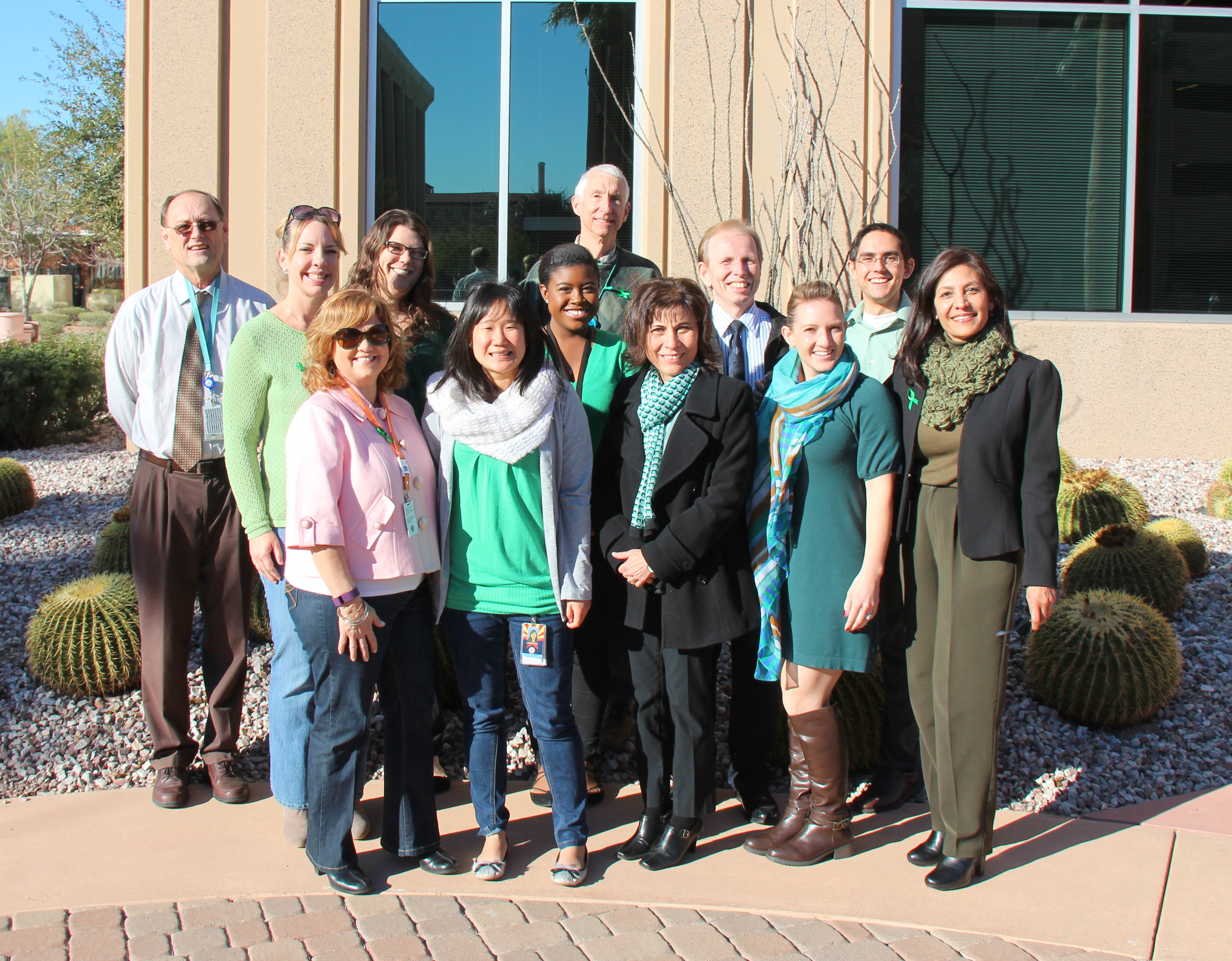 Our employees wore green and jeans this week to raise awareness of folic acid and its benefits before and during pregnancy.