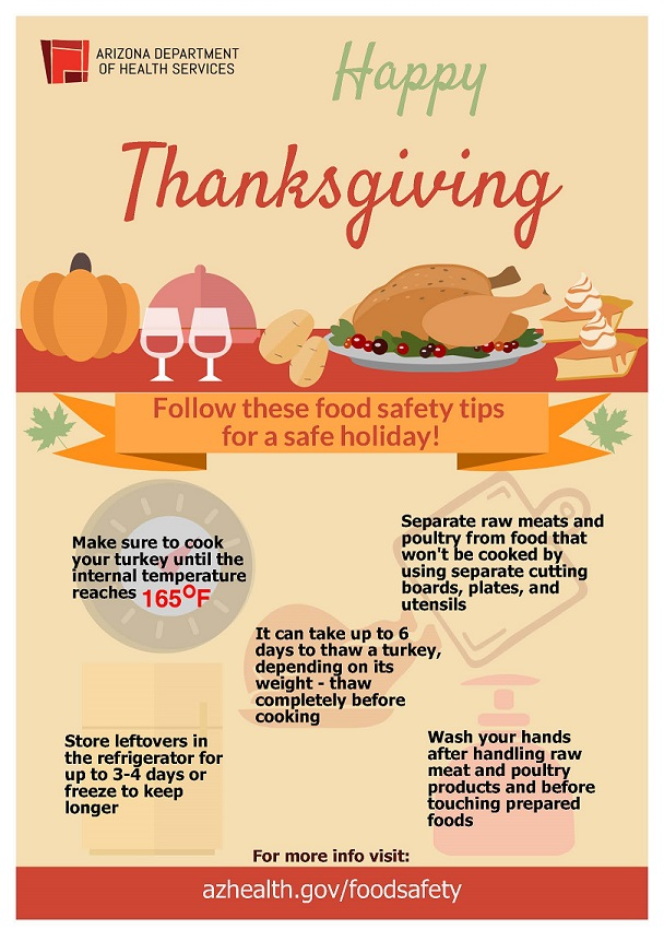 Cooking Turkey Chart >> Keep Your Thanksgiving Feast Safe – AZ Dept. of Health Services Director's Blog